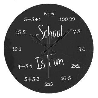 Fun School Is Fun Geek Math Large Clock