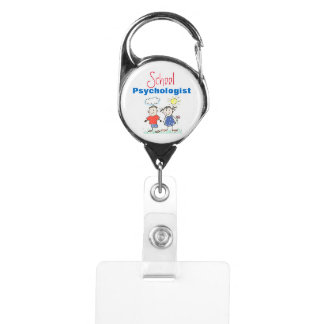 Fun School Psychologist's Badge Holder