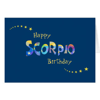 Fun SCORPIO Zodiac Sign Birthday Greeting Card