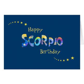 Fun SCORPIO Zodiac Sign Birthday Greeting Greeting Card