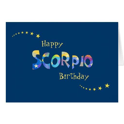 Fun SCORPIO Zodiac Sign Birthday Greeting Card