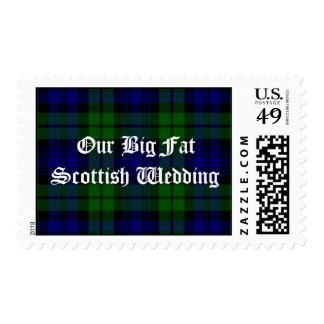 Fun Scottish Plaid Wedding Stamp