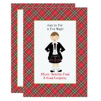 Fun Scottish Tartan Clan Plaid Peraonalized Party Card