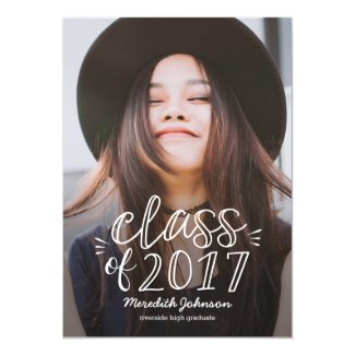 Fun Script Graduation Announcement Invitation