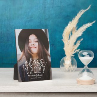 Fun Script Graduation Photo Plaque