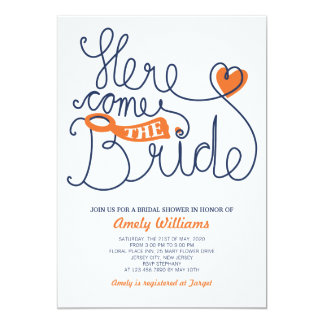 Fun Script Lettering Bridal Shower Invite