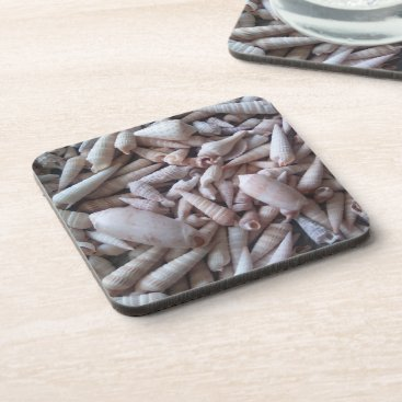 Beach Themed Fun Seashells Picture Coasters