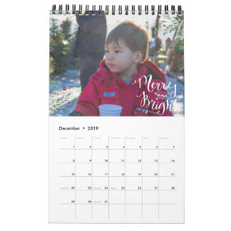 Fun Seasonal Overlay | Photo Personalized Calendar