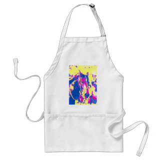 Fun Seattle Slew Thoroughbred Racehorse Watercolor Adult Apron