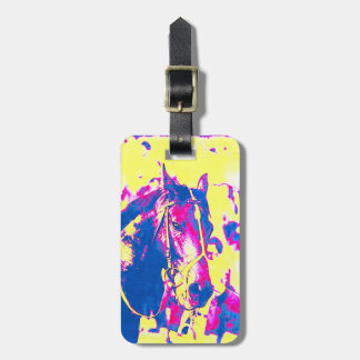 Fun Seattle Slew Thoroughbred Racehorse Watercolor Bag Tag