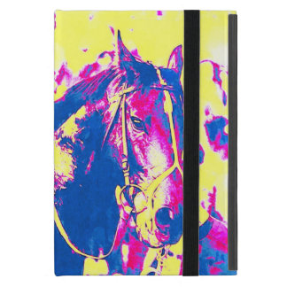 Fun Seattle Slew Thoroughbred Racehorse Watercolor Cases For iPad Mini