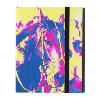Fun Seattle Slew Thoroughbred Racehorse Watercolor iPad Case