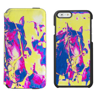 Fun Seattle Slew Thoroughbred Racehorse Watercolor iPhone 6/6s Wallet Case