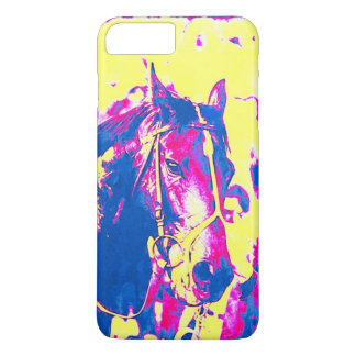 Fun Seattle Slew Thoroughbred Racehorse Watercolor iPhone 8 Plus/7 Plus Case