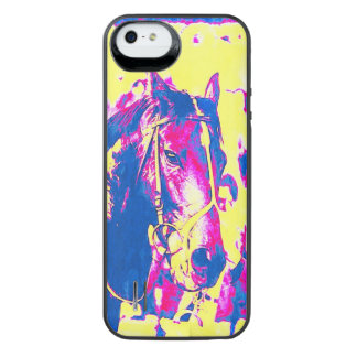 Fun Seattle Slew Thoroughbred Racehorse Watercolor Uncommon Power Gallery™ iPhone 5 Battery Case