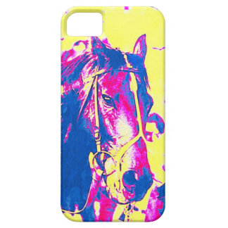 Fun Seattle Slew Thoroughbred Racehorse Watercolor iPhone SE/5/5s Case