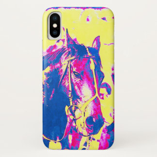 Fun Seattle Slew Thoroughbred Racehorse Watercolor iPhone X Case