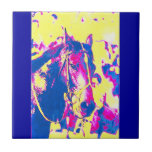 Fun Seattle Slew Thoroughbred Racehorse Watercolor Small Square Tile