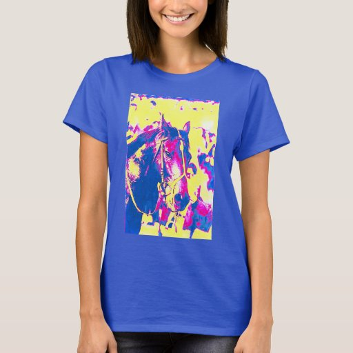 Fun seattle slew thoroughbred racehorse watercolor t shirt for Seattle t shirt printing