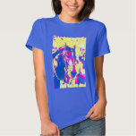 Fun Seattle Slew Thoroughbred Racehorse Watercolor Tee Shirt