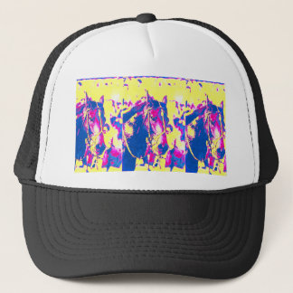 Fun Seattle Slew Thoroughbred Racehorse Watercolor Trucker Hat