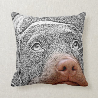 Fun Selective Color Dog Photo Accent Pillows