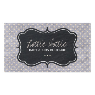 Fun Shabby Dots Business Cards