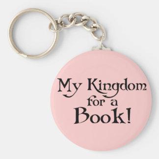 Fun Shakespeare My Kingdom for a Book T-shirt Basic Round Button Keychain