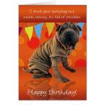 Fun Shar Pei Birthday Card With Birthday Humor