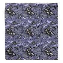 Fun Shark Abstract Original Art Bandana