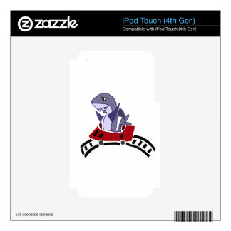 Fun Shark Riding on Roller Coaster iPod Touch 4G Decals