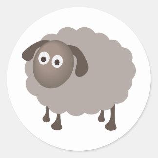 Fun Sheep Design Classic Round Sticker