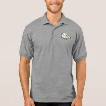 Fun Sheep in a Cartoon Style Polo Shirt