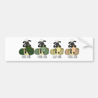 Fun sheep knitting bumper or any other sticker bumper stickers
