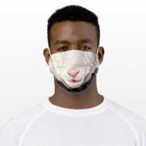Fun Sheep - Mouth - Funny Adult Cloth Face Mask