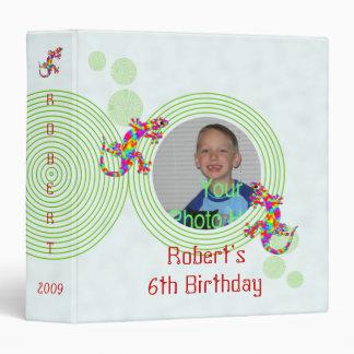 Fun Sidney Salamander Birthday 1.5 inch Binder