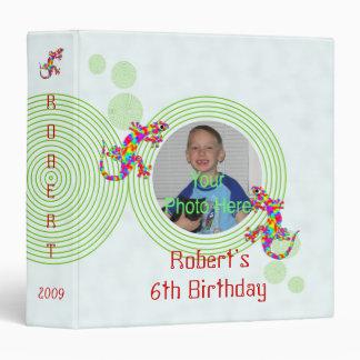 Fun Sidney Salamander Birthday Photo Album 3 Ring Binder