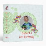 Fun Sidney Salamander Birthday Photo Album 3 Ring Binders