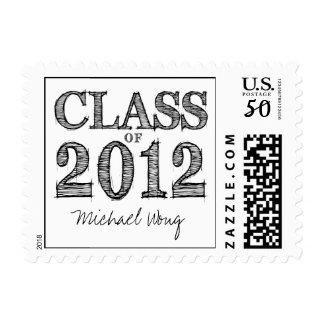 Fun & Simple Pen Sketch Class of 2012 Postage