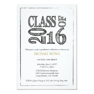 Fun & Simple Pen Sketch Class of 2016 Card
