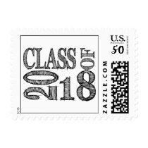 Fun & Simple Pen Sketch Class of 2018 Graduation Postage