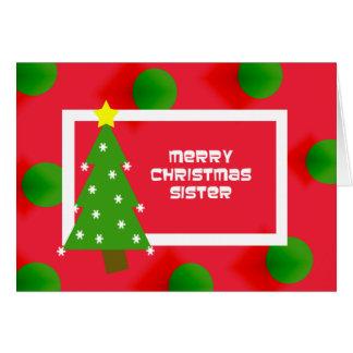 Fun Sister Christmas Card