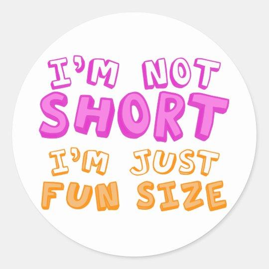 Fun Size Classic Round Sticker