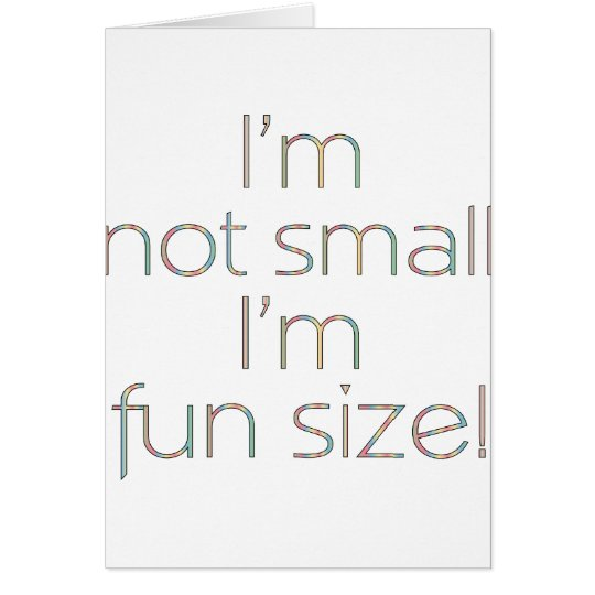 Fun Size Color Card