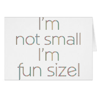 Fun Size Color Card