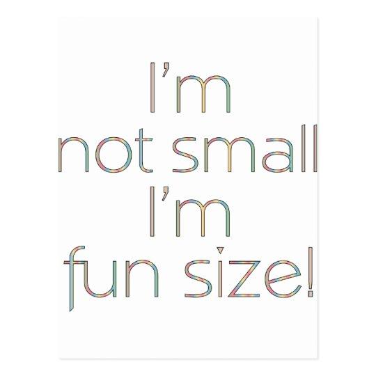 Fun Size Color Postcard