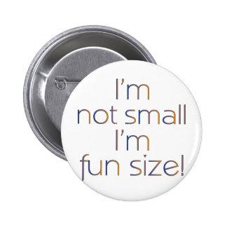 Fun Size MultiColor Dark Pinback Buttons