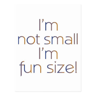 Fun Size (MultiColor Dark) Postcard