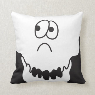 Fun Skeleton Head Monster Collection Throw Pillow