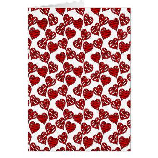 Fun Sketchy Hearts Pattern Card
